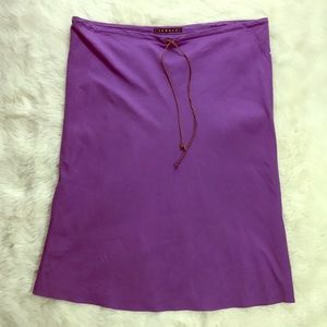 Theory purple a line skirt with drawstring NWOT